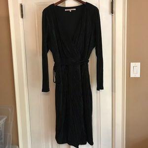 RACHEL ROY Ribbed Knit Faux Wrap Dress 2X